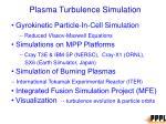 plasma turbulence simulation