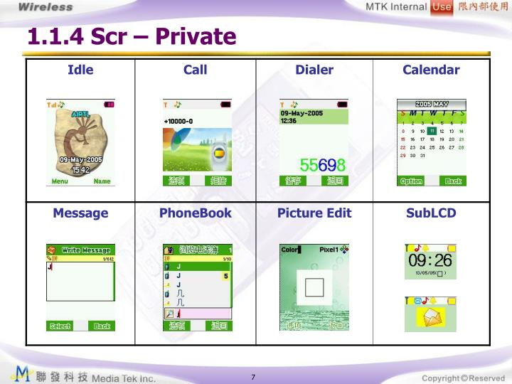 1.1.4 Scr – Private