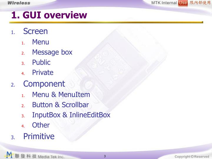 1. GUI overview