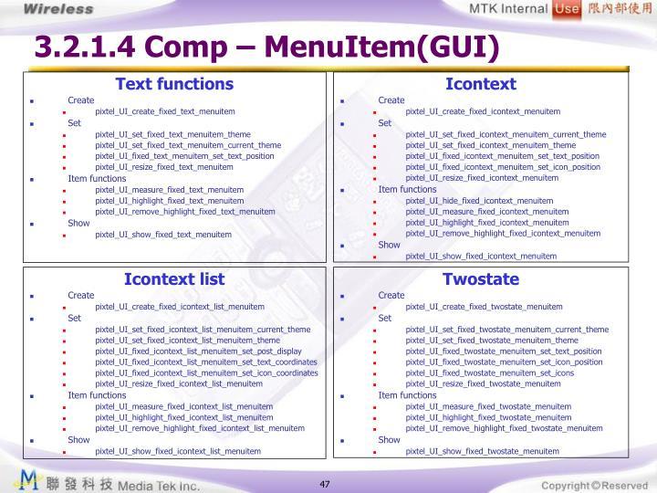 3.2.1.4 Comp – MenuItem(GUI)
