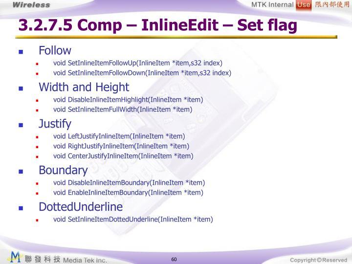 3.2.7.5 Comp – InlineEdit – Set flag