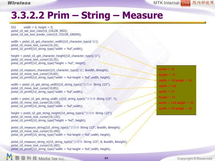 3.3.2.2 Prim – String – Measure