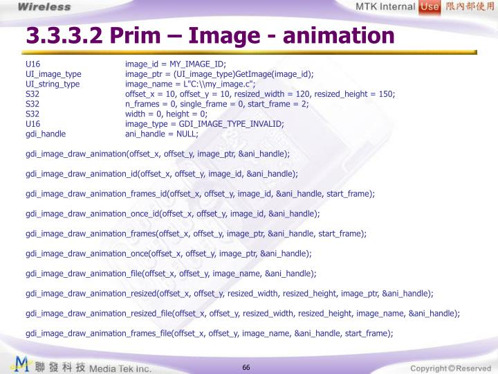 3.3.3.2 Prim – Image - animation