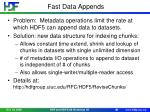 fast data appends