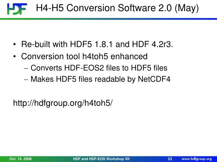 H4-H5 Conversion Software 2.0 (May)