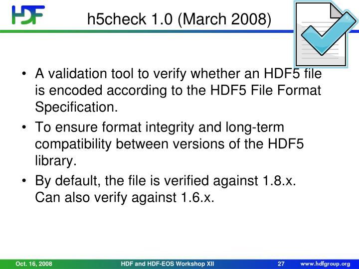 h5check 1.0 (March 2008)