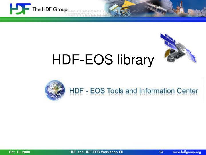 HDF-EOS library