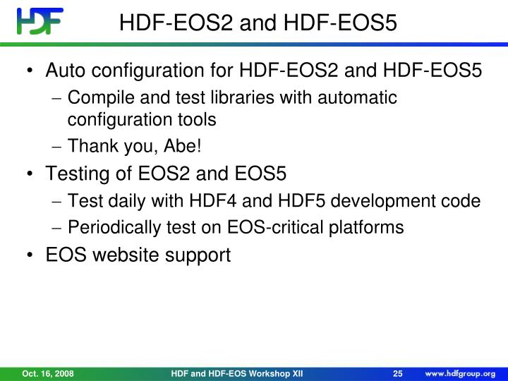 HDF-EOS2 and HDF-EOS5