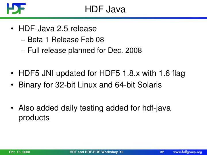 HDF Java