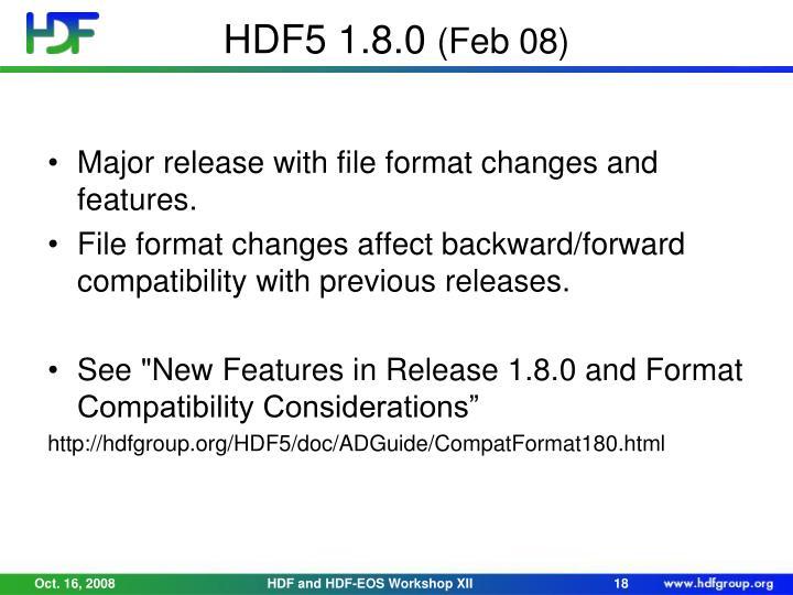 HDF5 1.8.0