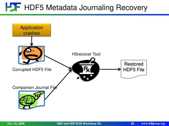 HDF5 Metadata Journaling Recovery
