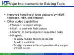 major improvements for existing tools