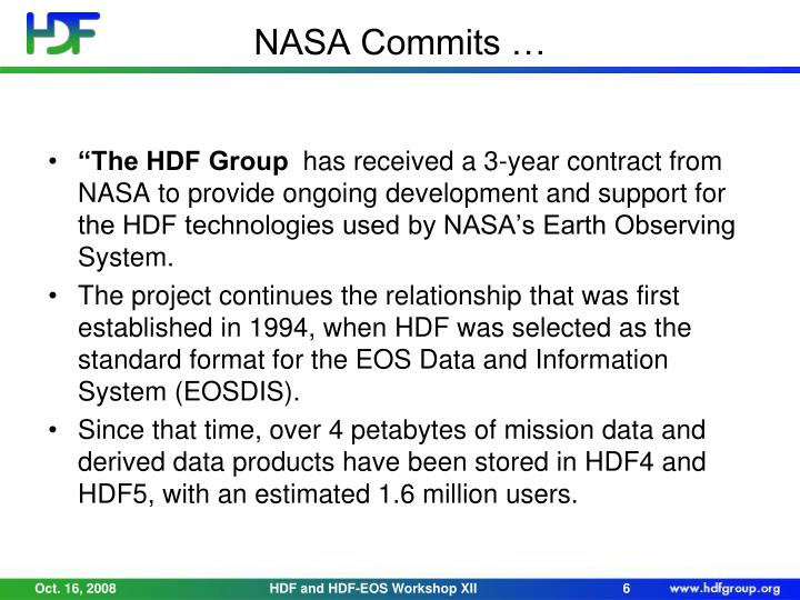 NASA Commits …