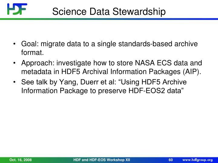 Science Data Stewardship