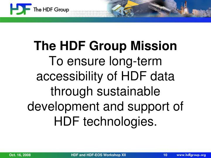 The HDF Group Mission