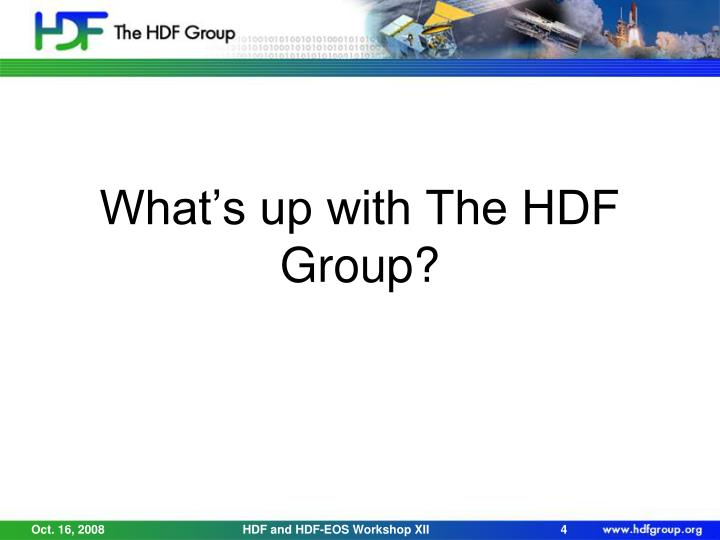 What's up with The HDF Group?