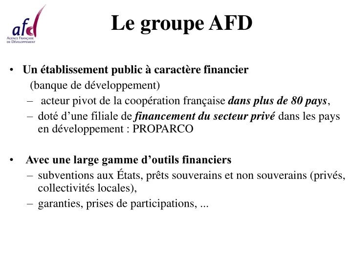 Le groupe AFD