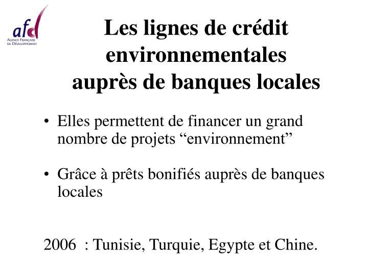 Les lignes de crédit environnementales