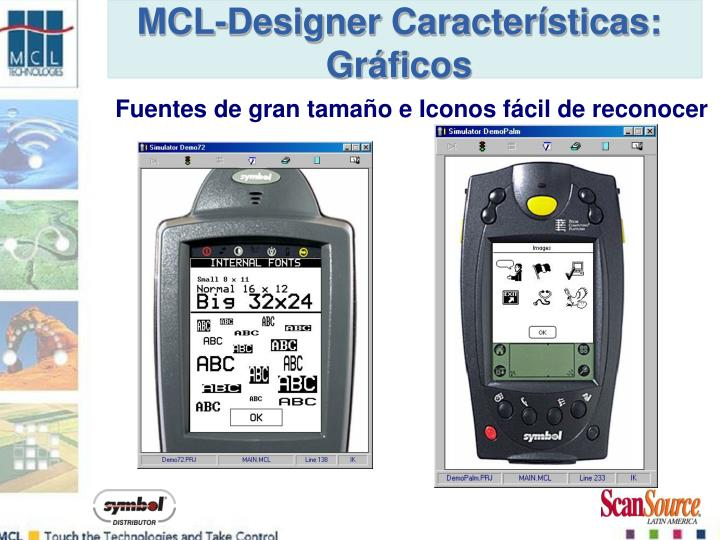MCL-Designer Características: Gráficos