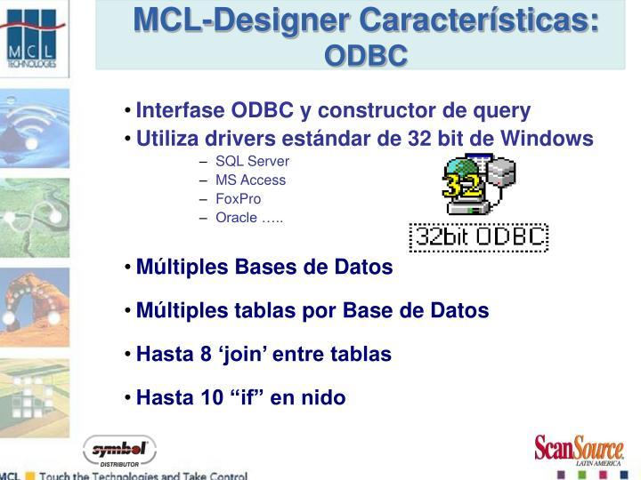 Interfase ODBC y constructor de query