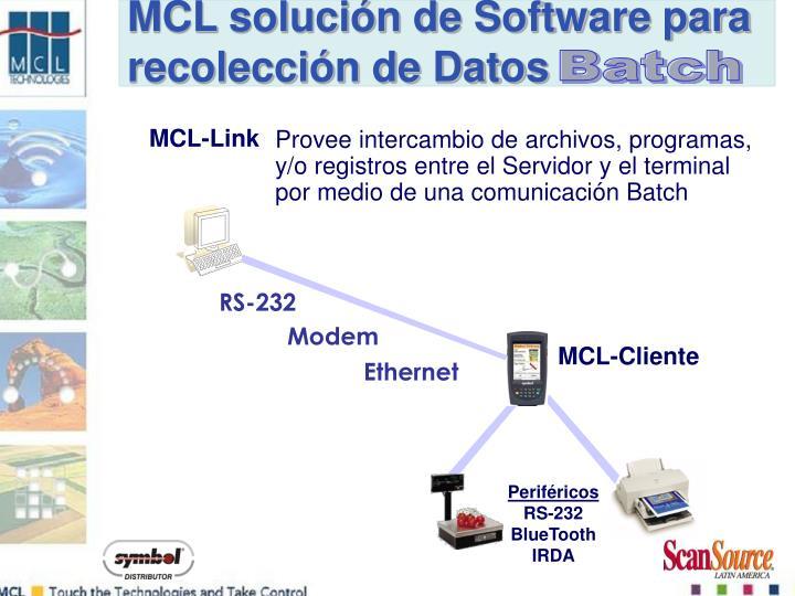 MCL solución de Software para recolección de Datos