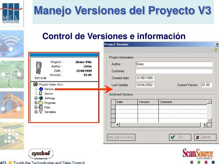 Manejo Versiones del Proyecto V3