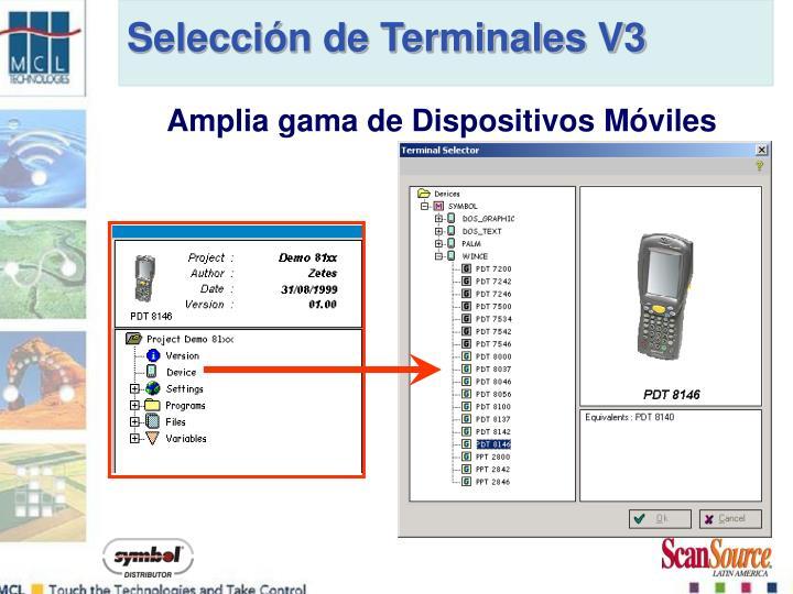 Selección de Terminales V3