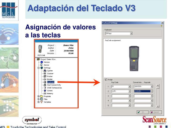 Adaptación del Teclado V3