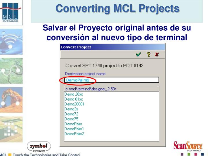Converting MCL Projects