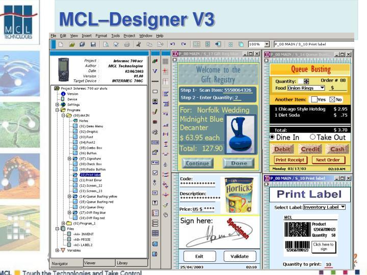 MCL–Designer V3