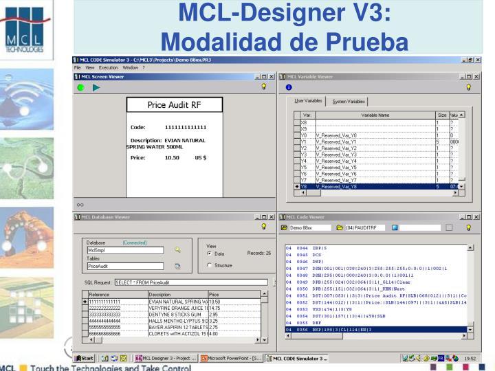 MCL-Designer V3: