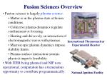 fusion sciences overview