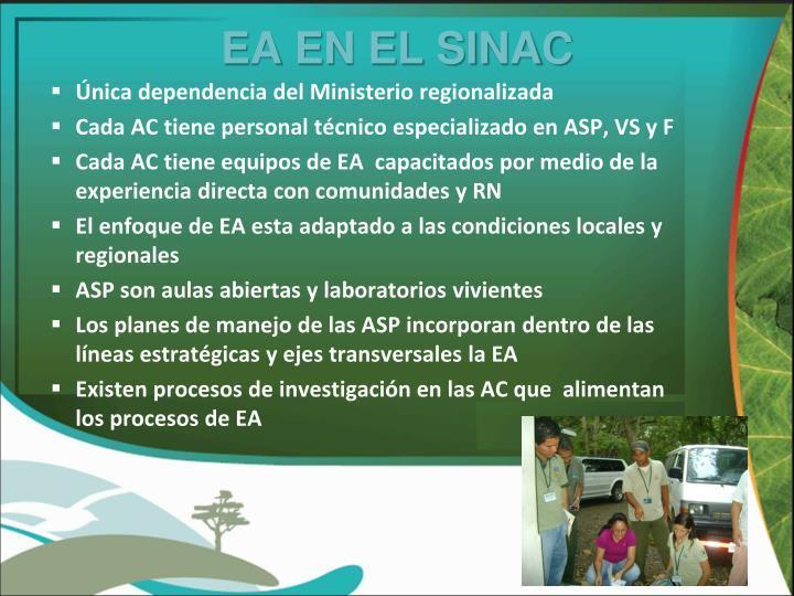 EA EN EL SINAC
