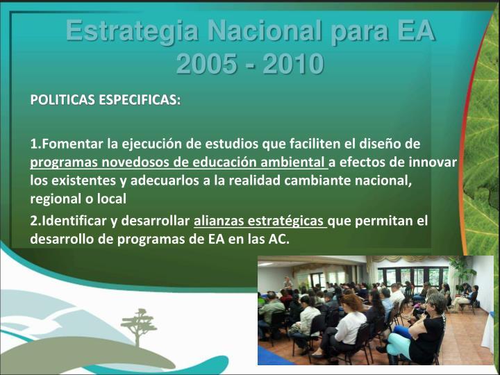 Estrategia Nacional para EA