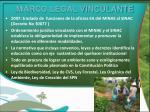 marco legal vinculante
