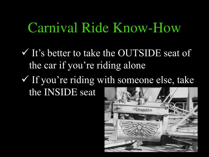 Carnival Ride Know-How