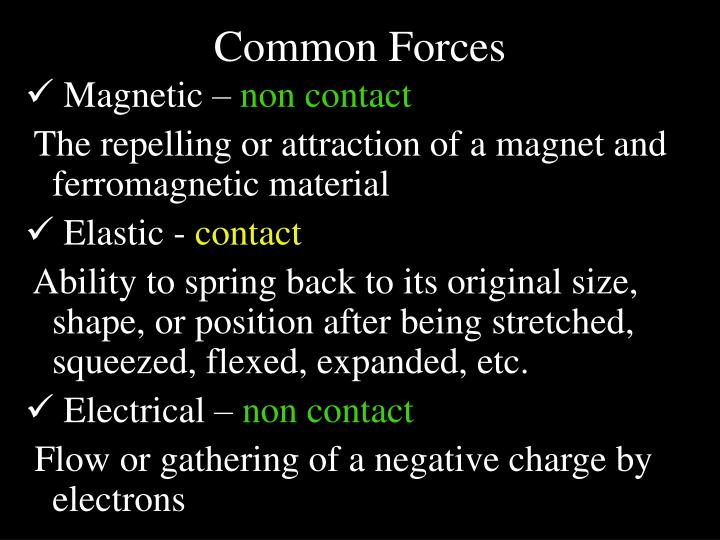 Common Forces