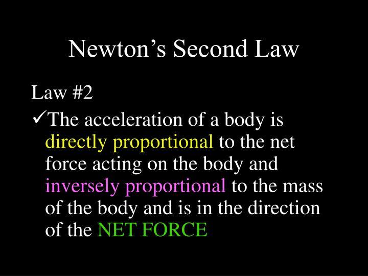 Newton's Second Law