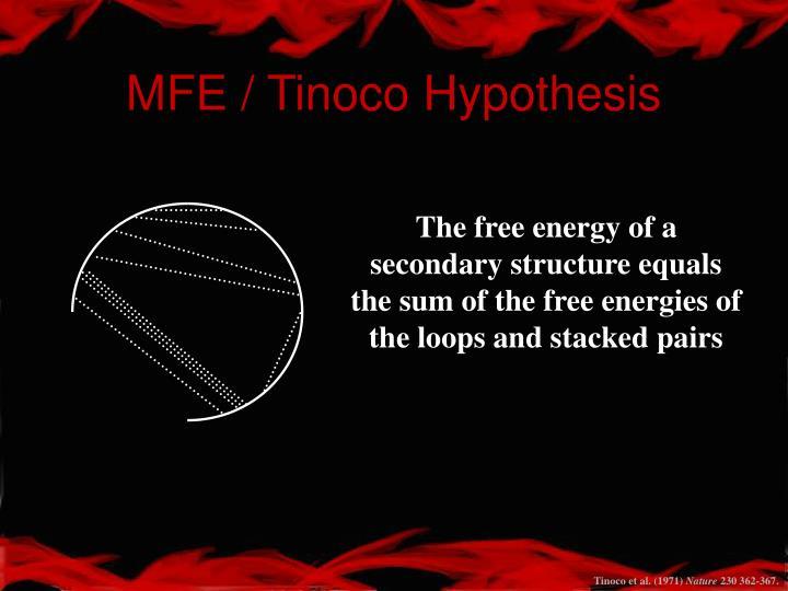 MFE / Tinoco Hypothesis