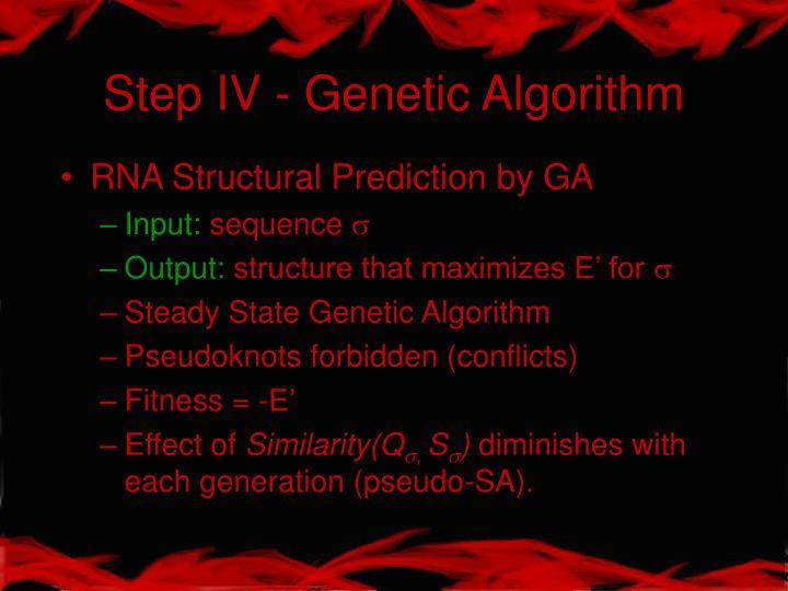 Step IV - Genetic Algorithm