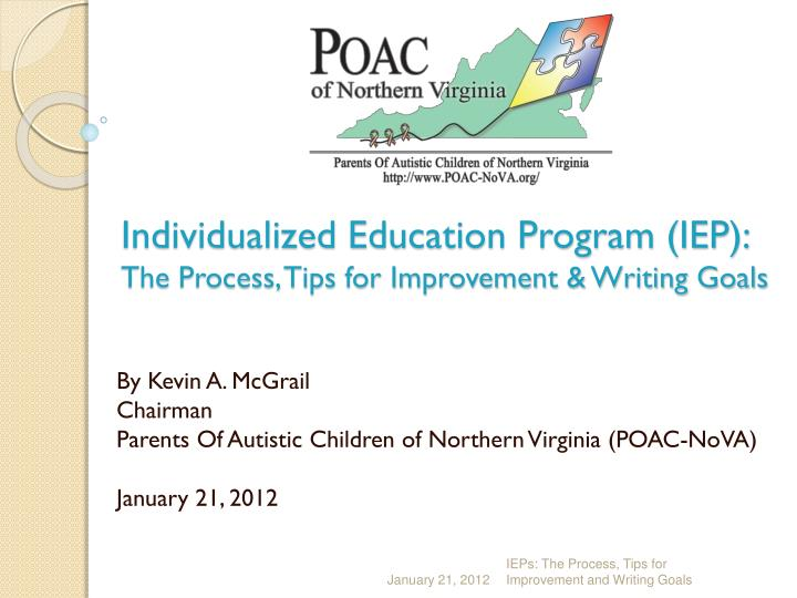 Individualized education program iep the process tips for improvement writing goals