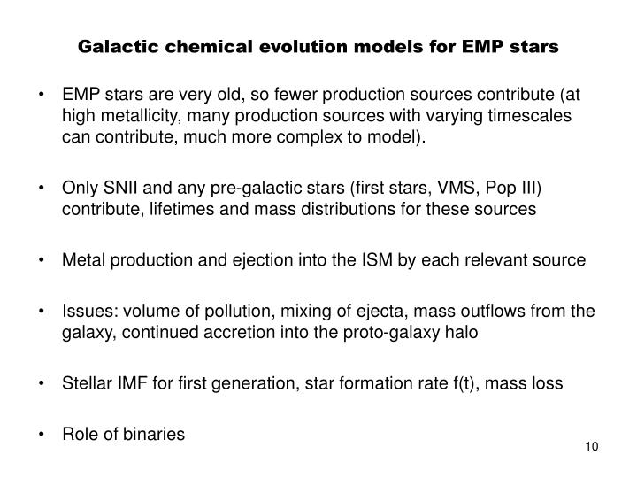 Galactic chemical evolution models for EMP stars