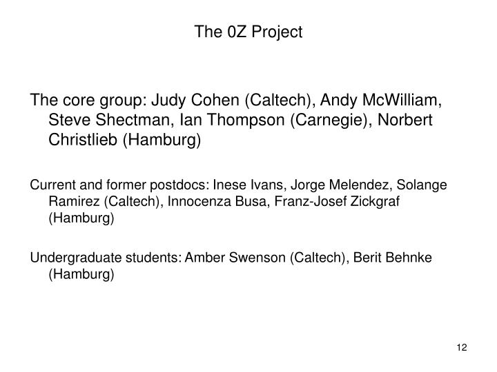 The 0Z Project