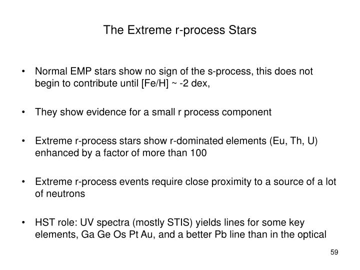 The Extreme r-process Stars