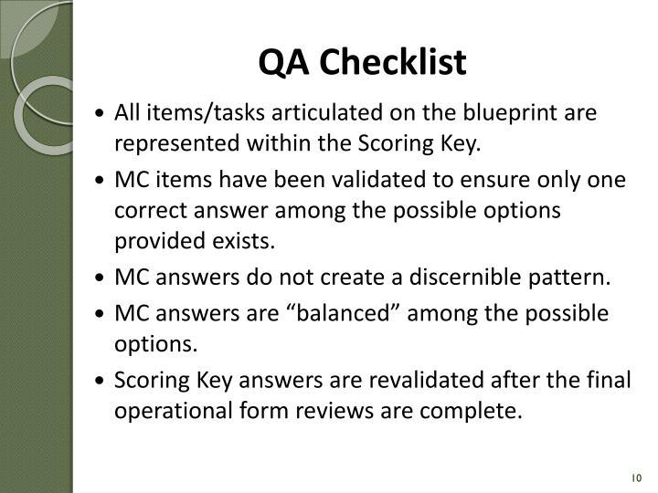 QA Checklist