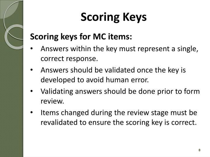 Scoring Keys
