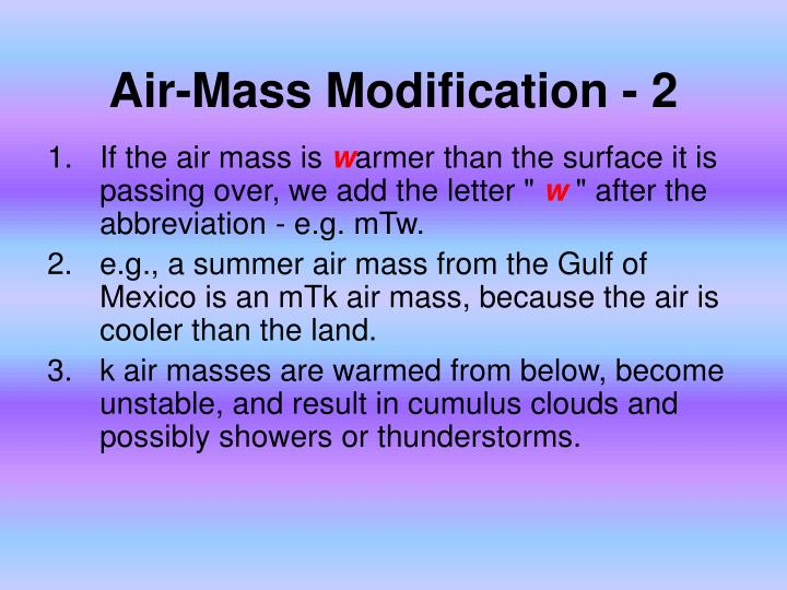Air-Mass Modification - 2