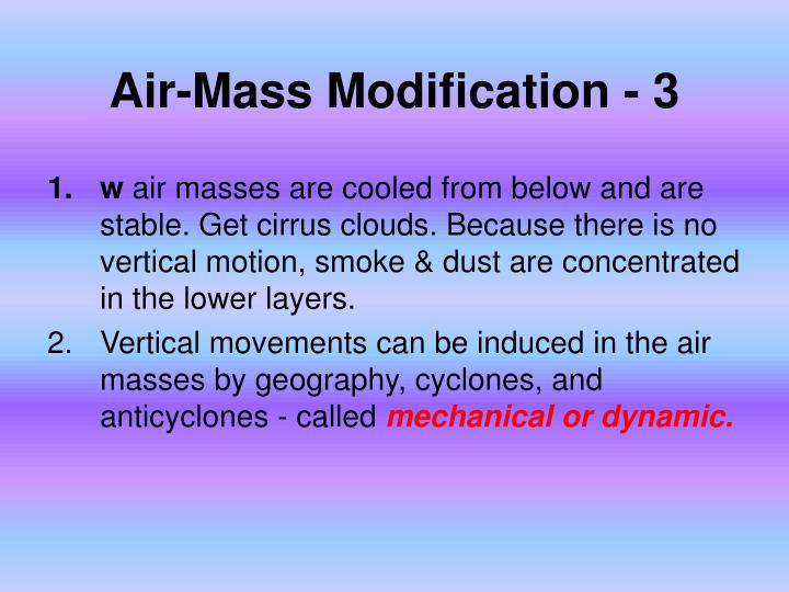 Air-Mass Modification - 3