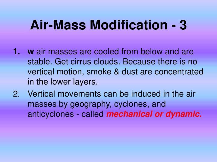 Air-Mass Modification - 3