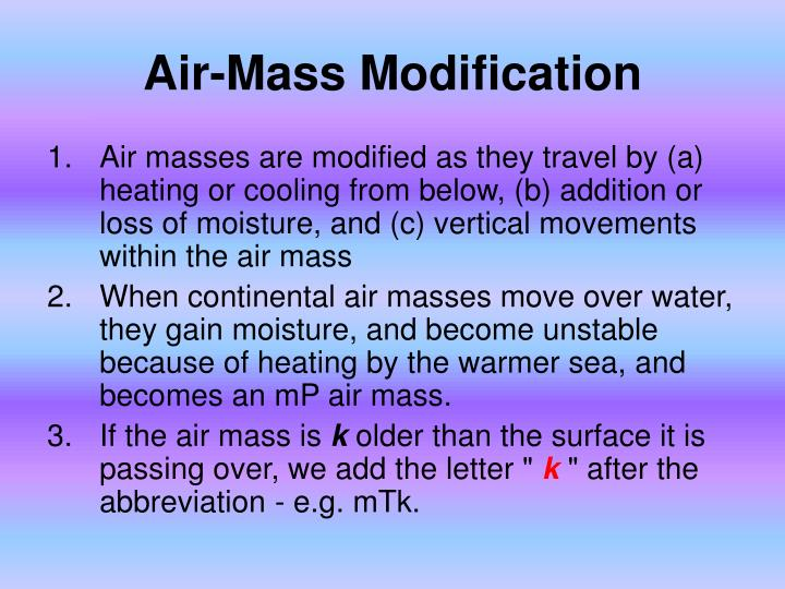 Air-Mass Modification